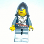 Lego Fantasy Era Castle Crown Knight  smirk stubble  minifigure 2007